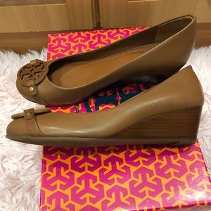 Tory Burch Shoes - Tory Burch Miller Leather Wedge